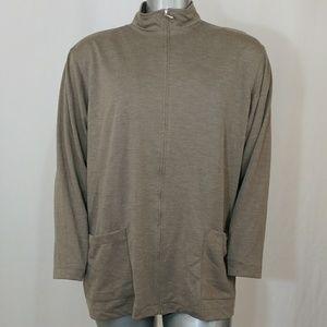 Simply Susan Mid-Weight Zipper Jacket w/Pockets 2X